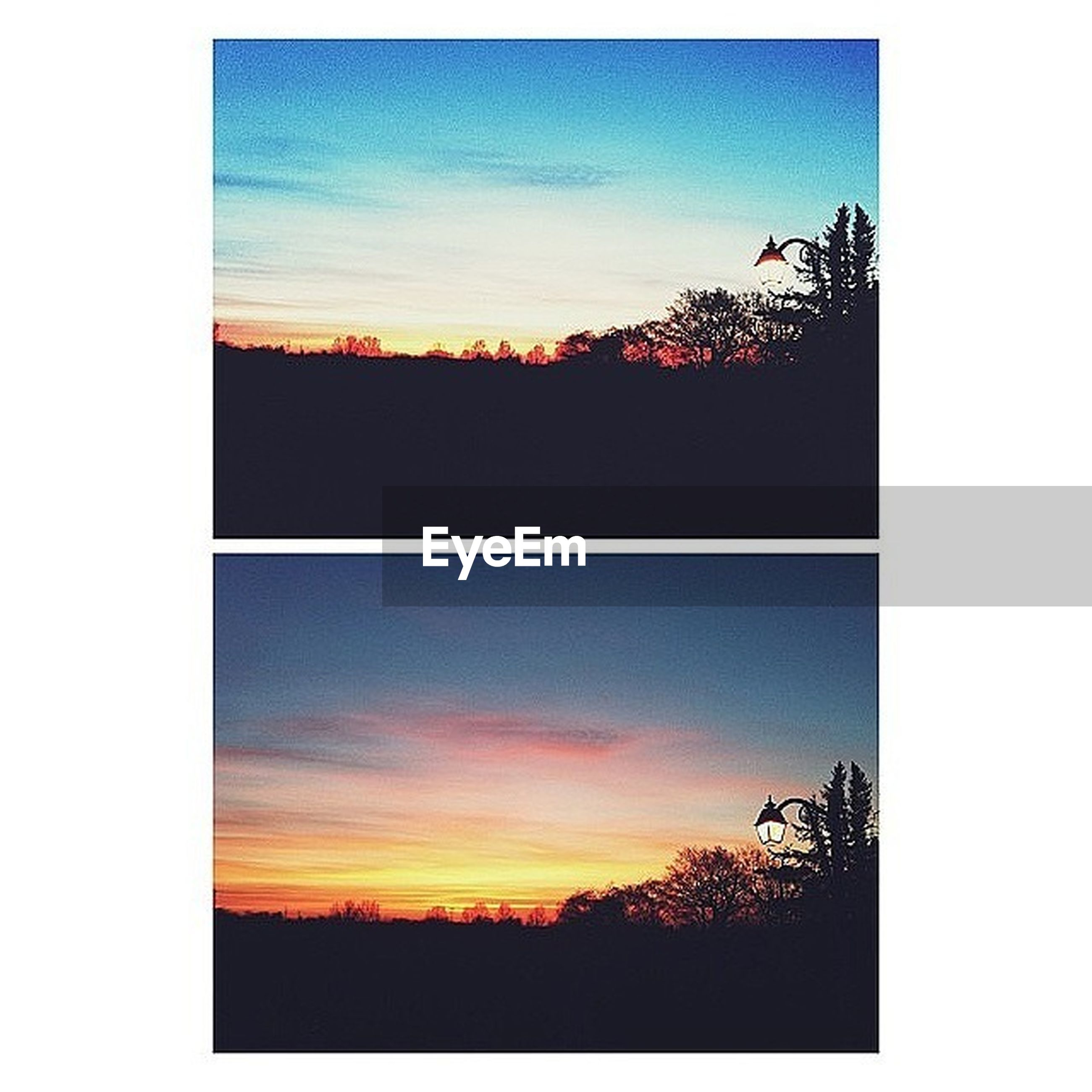 transfer print, sunset, silhouette, tree, sky, auto post production filter, scenics, beauty in nature, tranquility, tranquil scene, nature, orange color, idyllic, cloud, cloud - sky, landscape, dark, no people, outdoors, outline
