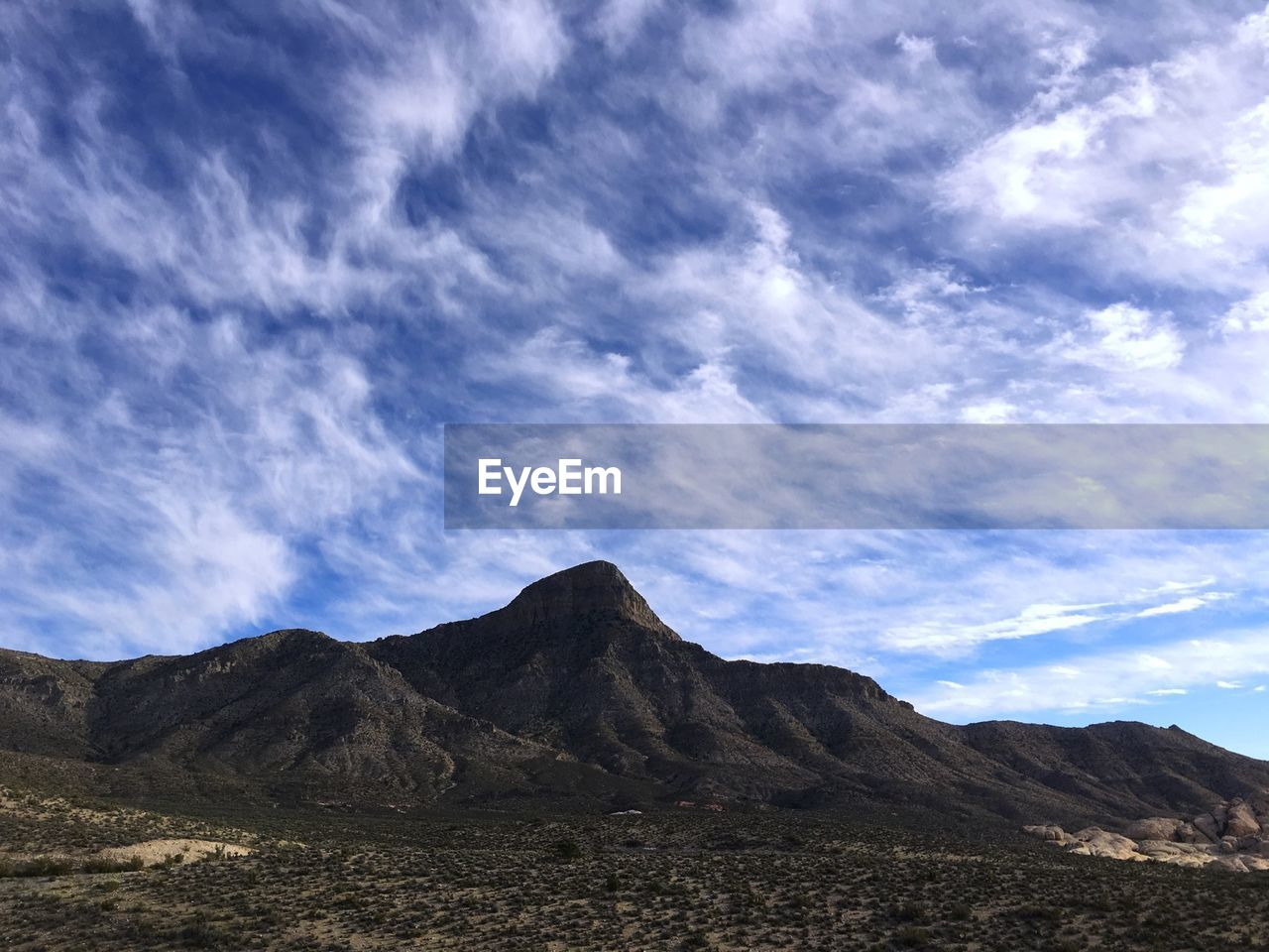 Idyllic view of mountains at red rock canyon national conservation area against sky