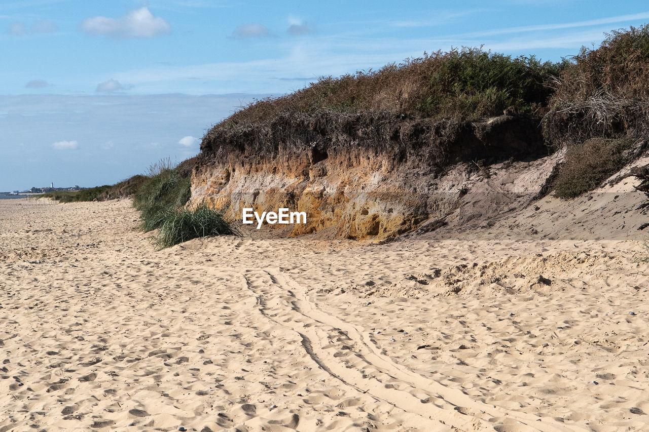 PANORAMIC VIEW OF SAND DUNES ON BEACH