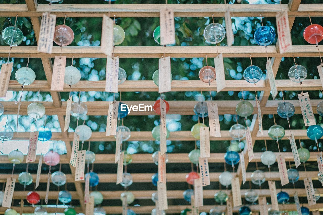 full frame, no people, indoors, backgrounds, wood - material, large group of objects, close-up, abundance, food and drink, selective focus, day, multi colored, glass - material, transparent, creativity, rack, focus on foreground, pattern, red, order