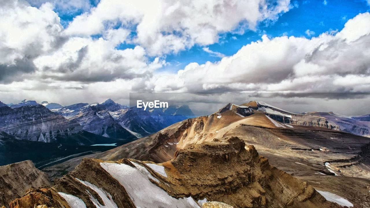 cloud - sky, mountain, sky, scenics - nature, beauty in nature, environment, mountain range, landscape, nature, no people, tranquil scene, non-urban scene, day, cold temperature, snow, tranquility, winter, outdoors, land, snowcapped mountain, mountain peak