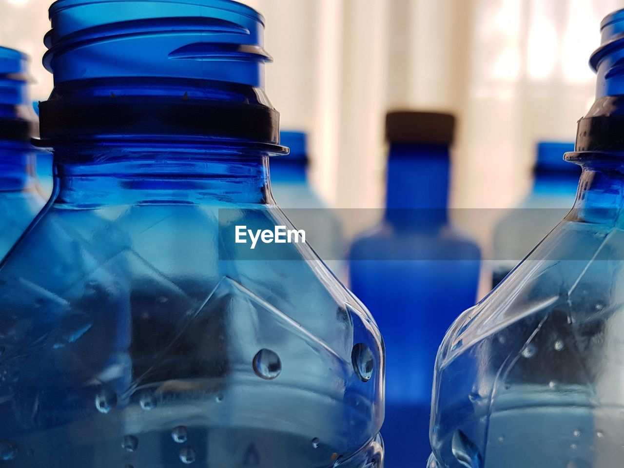 Close-up of water bottles