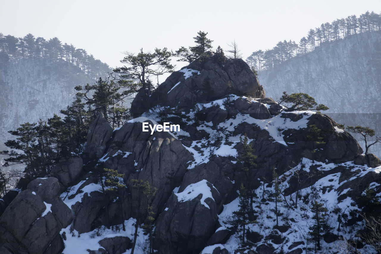 Mountains At Seoraksan National Park During Winter
