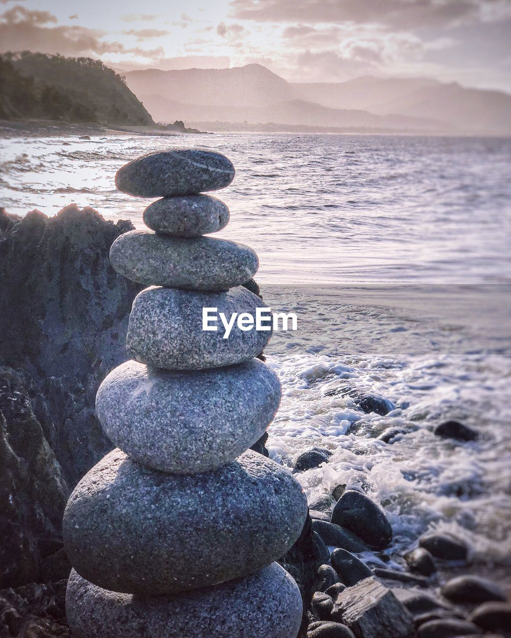 balance, stack, solid, rock, stone - object, water, stone, sea, tranquility, rock - object, beach, land, pebble, nature, beauty in nature, zen-like, tranquil scene, scenics - nature, no people, horizon over water, outdoors, stack rock