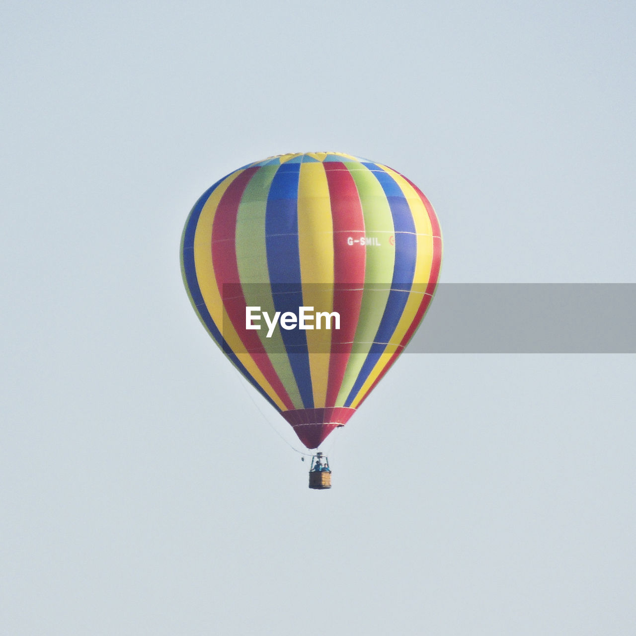 hot air balloon, multi colored, flying, transportation, adventure, clear sky, mid-air, air vehicle, white background, no people, ballooning festival, outdoors, day, nature, sky