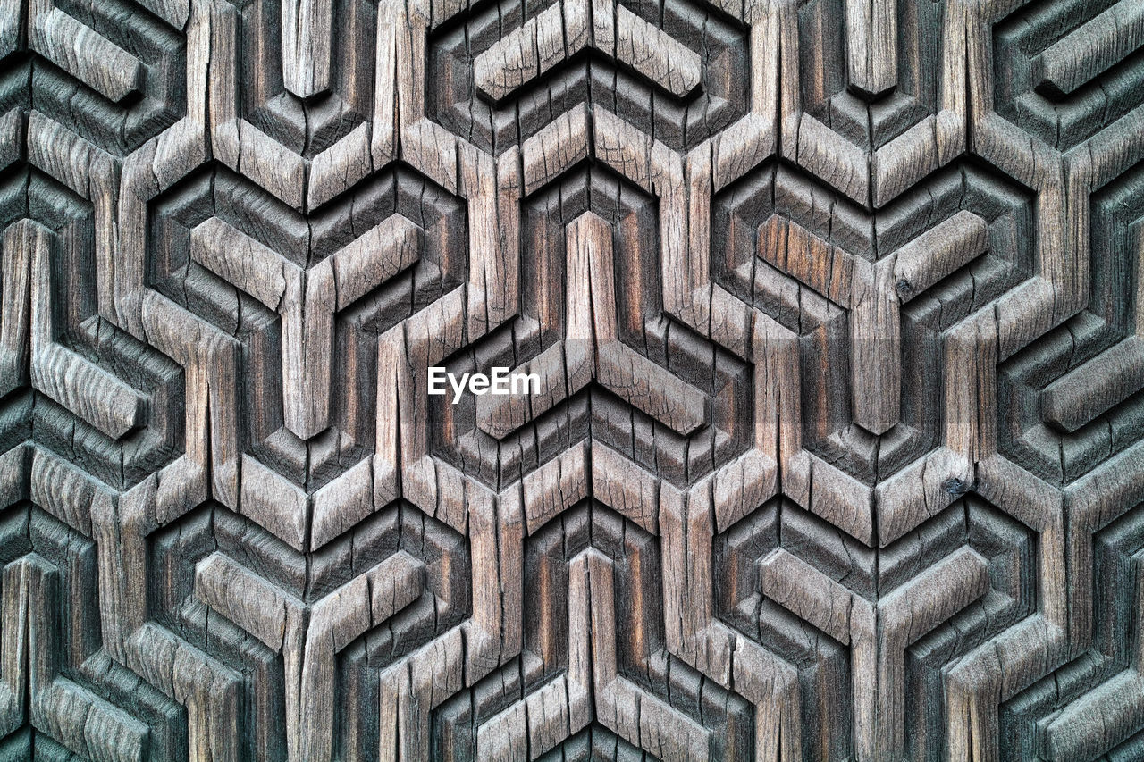 Full Frame Shot Of Wood With Carvings