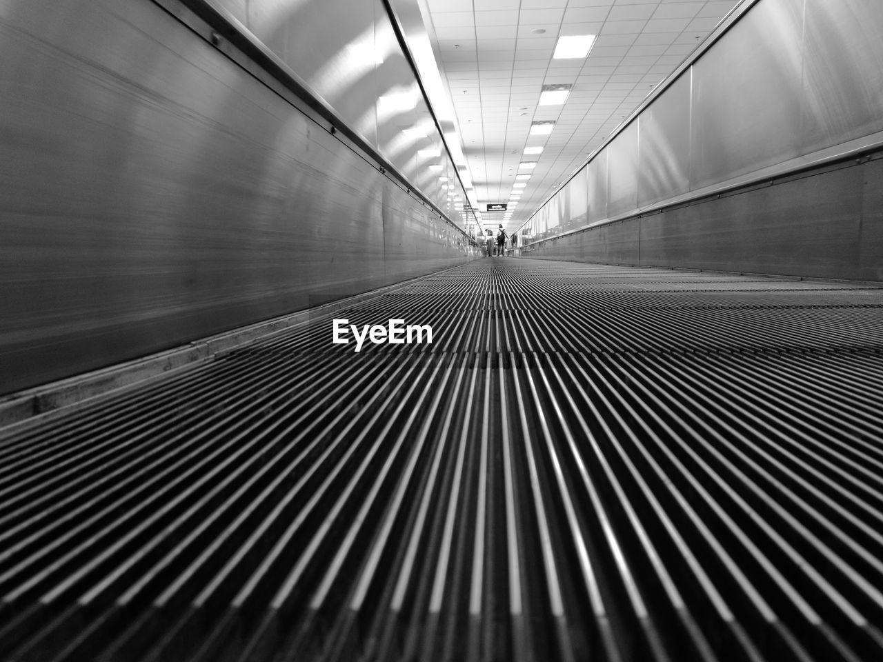 Surface Level Of Moving Walkway At Airport