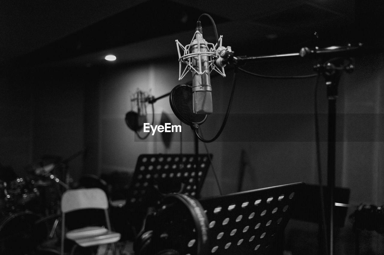 Microphone At Recording Studio