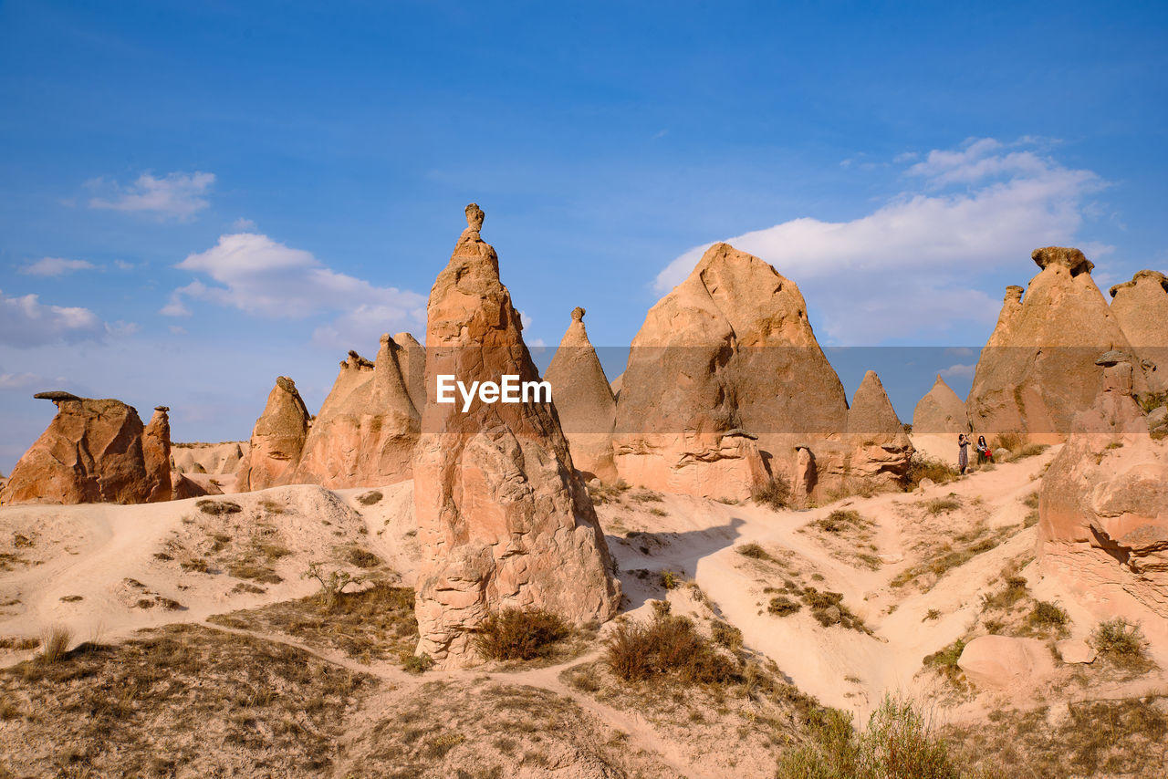 VIEW OF ROCK FORMATIONS ON LANDSCAPE
