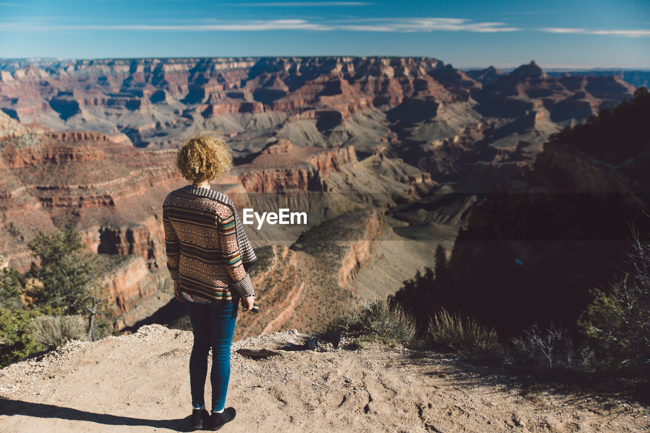 Rear View Of Woman Looking At Grand Canyon