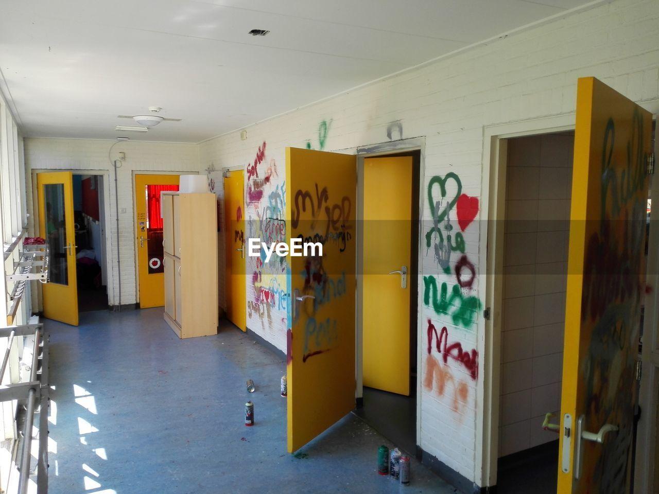 door, indoors, architecture, no people, day