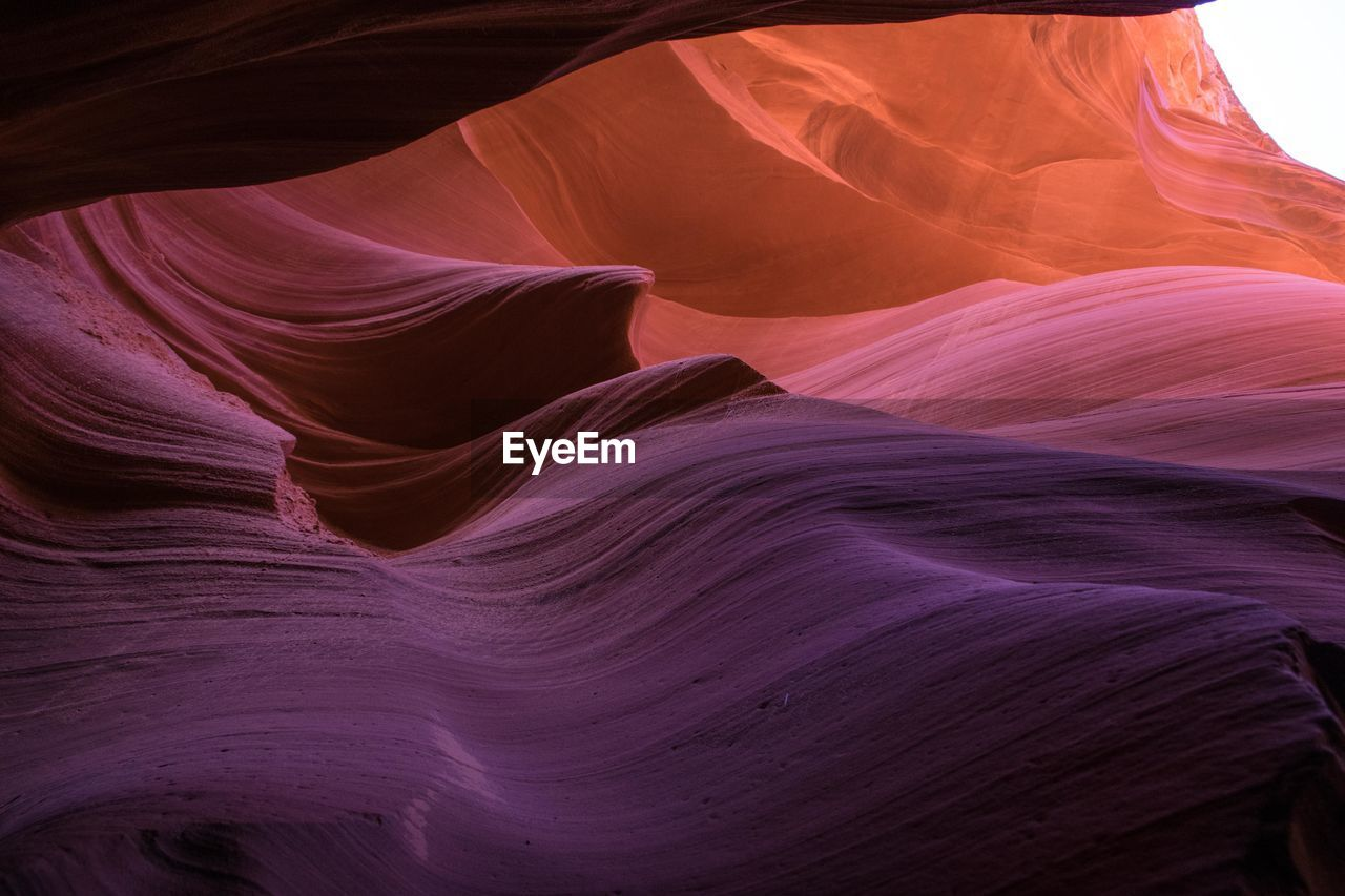 Low angle view of rock formation in slot canyon