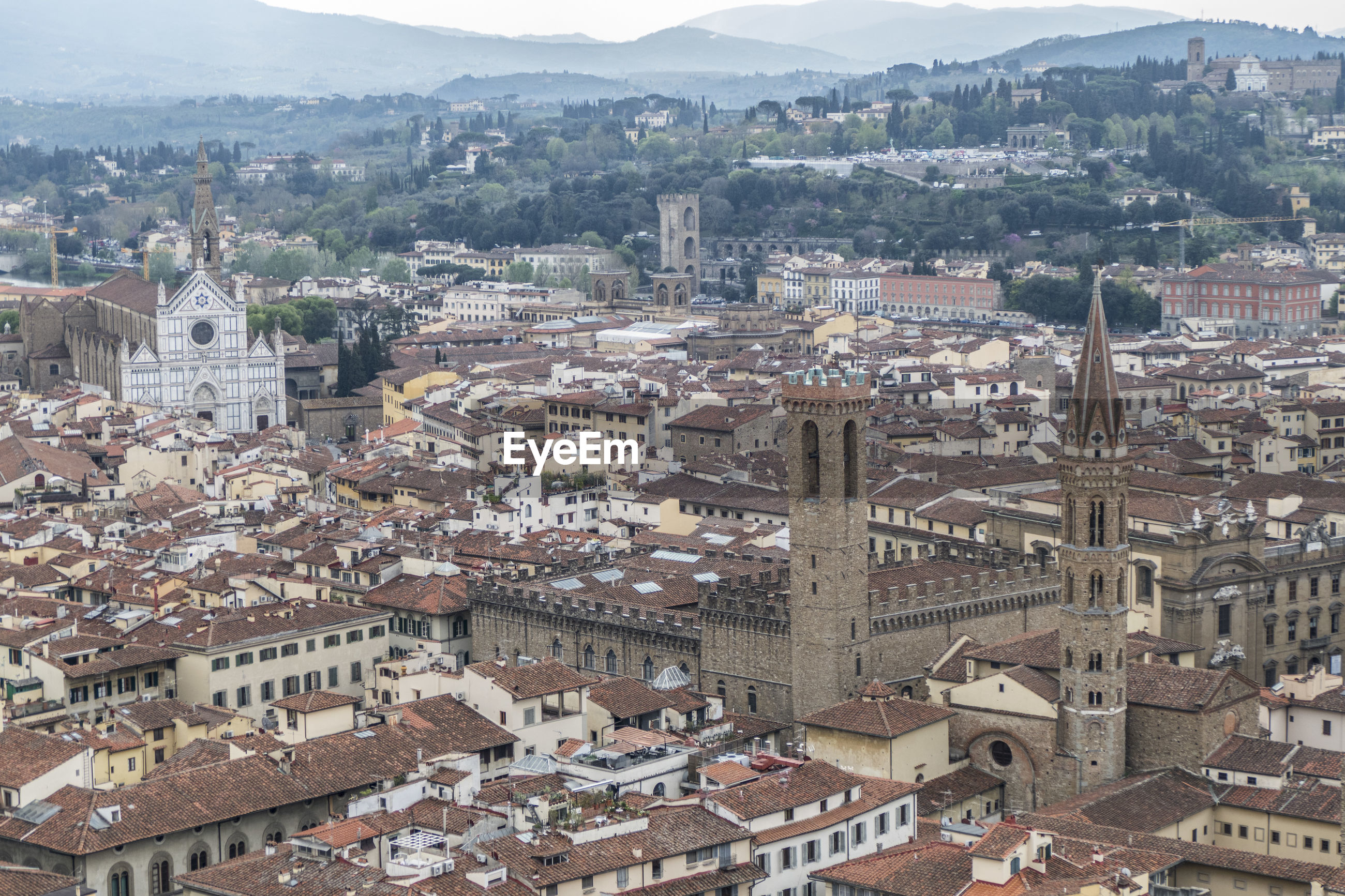 Aerial view of the historic center of florence