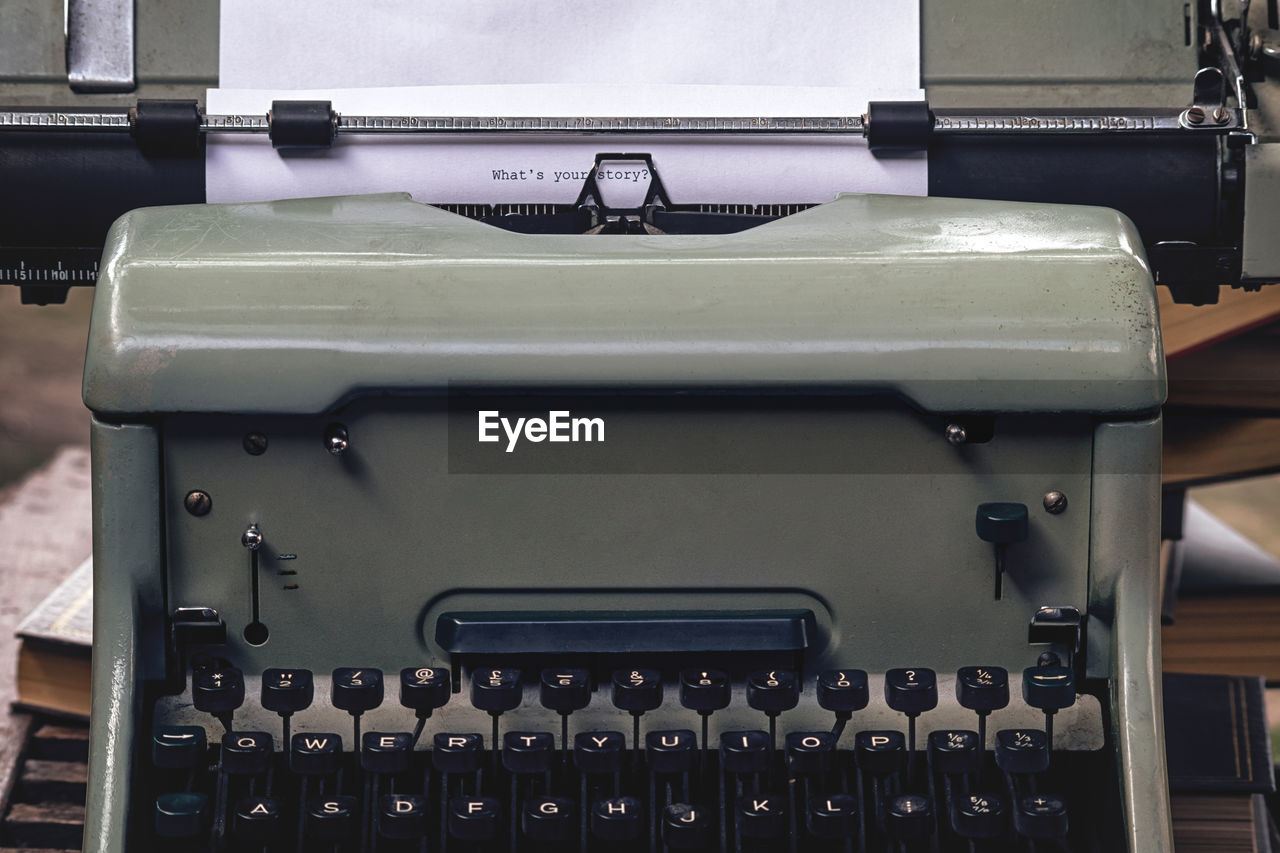 CLOSE-UP OF OLD MACHINE