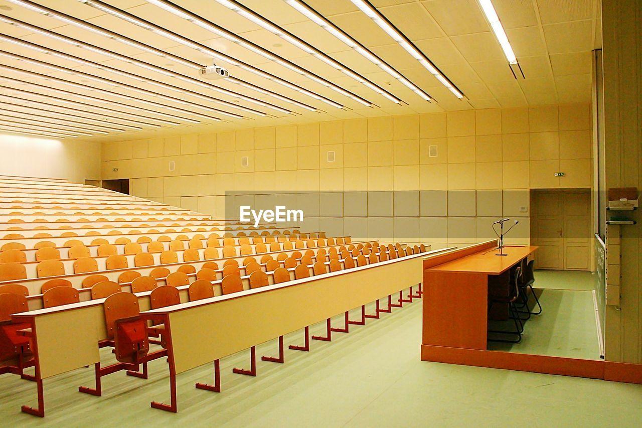 Interior Of Illuminated Classroom