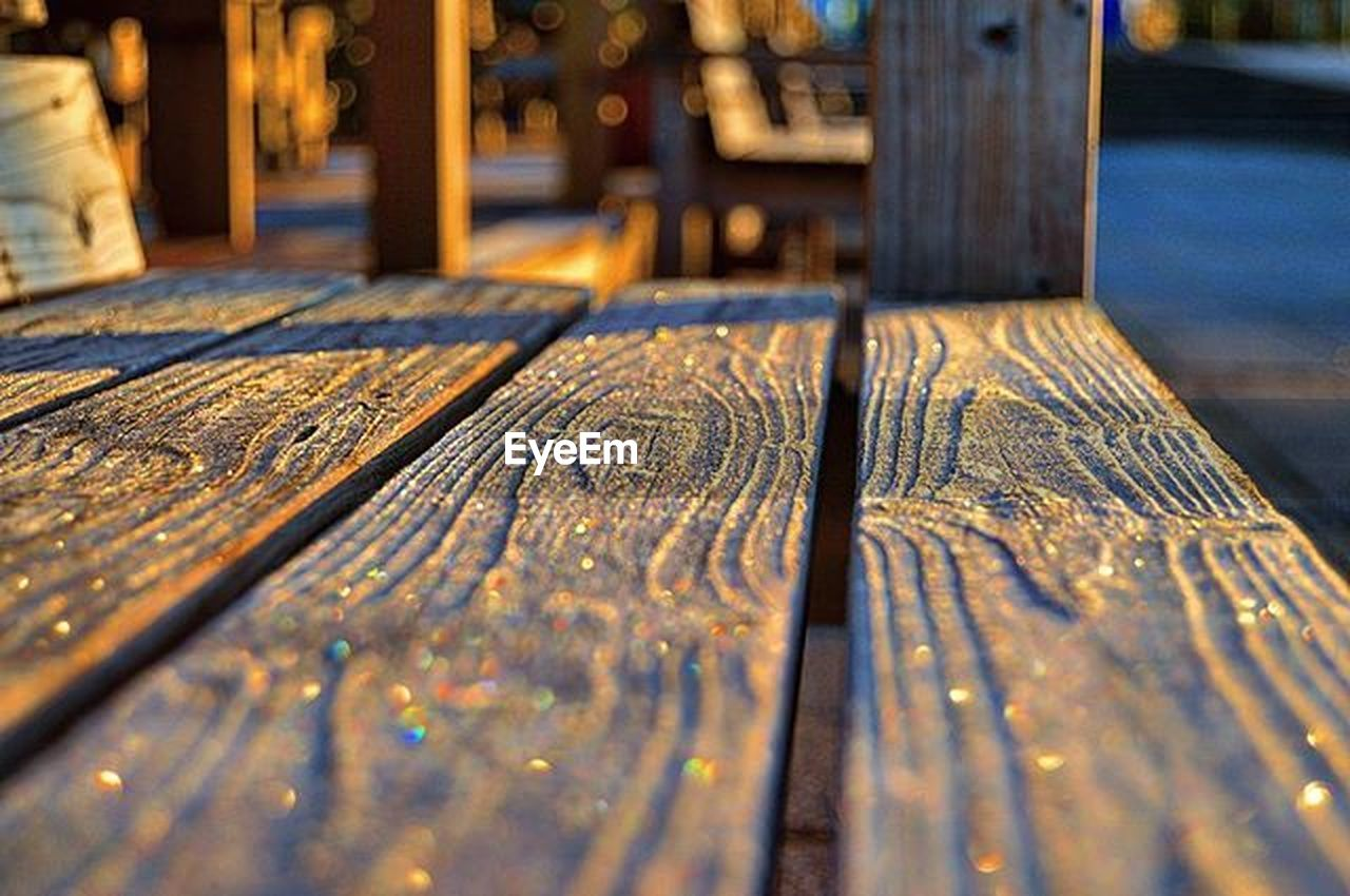 wood - material, no people, absence, selective focus, chair, furniture, day, close-up, outdoors