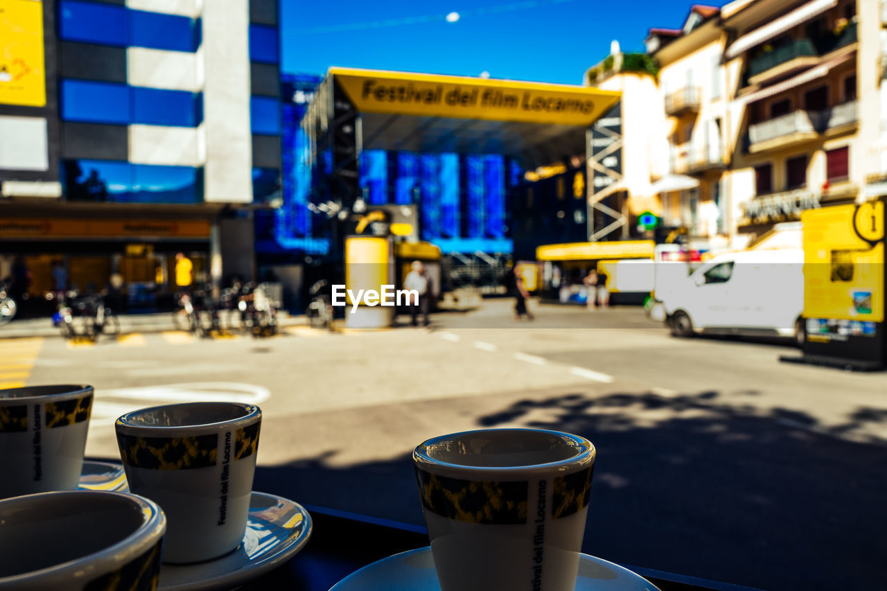 coffee cup, architecture, food and drink, building exterior, built structure, drink, coffee - drink, refreshment, outdoors, day, no people, city, close-up