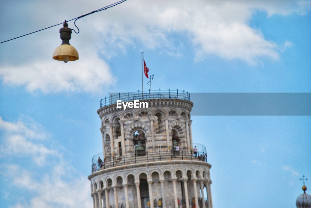 sky, cloud - sky, architecture, built structure, building exterior, low angle view, travel destinations, flag, nature, travel, day, tourism, tower, history, building, no people, the past, city, blue, outdoors
