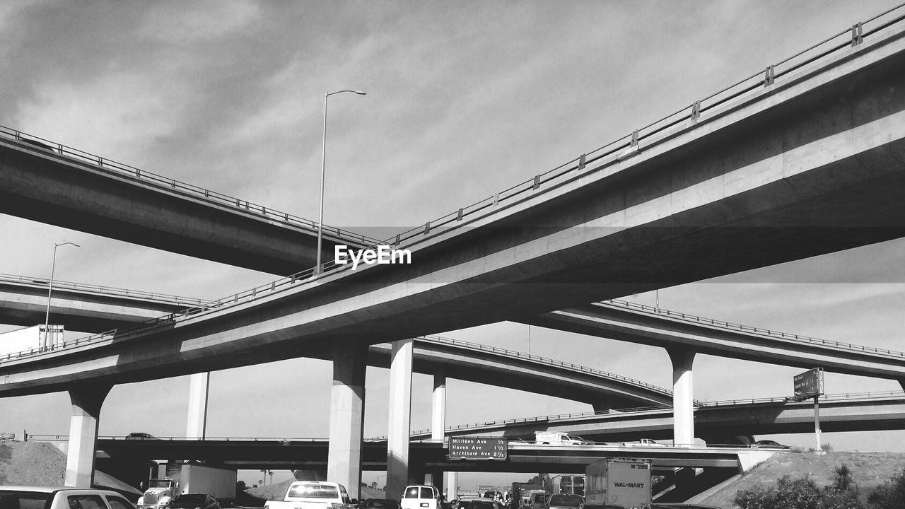 Low Angle View Of Freeway Bridge