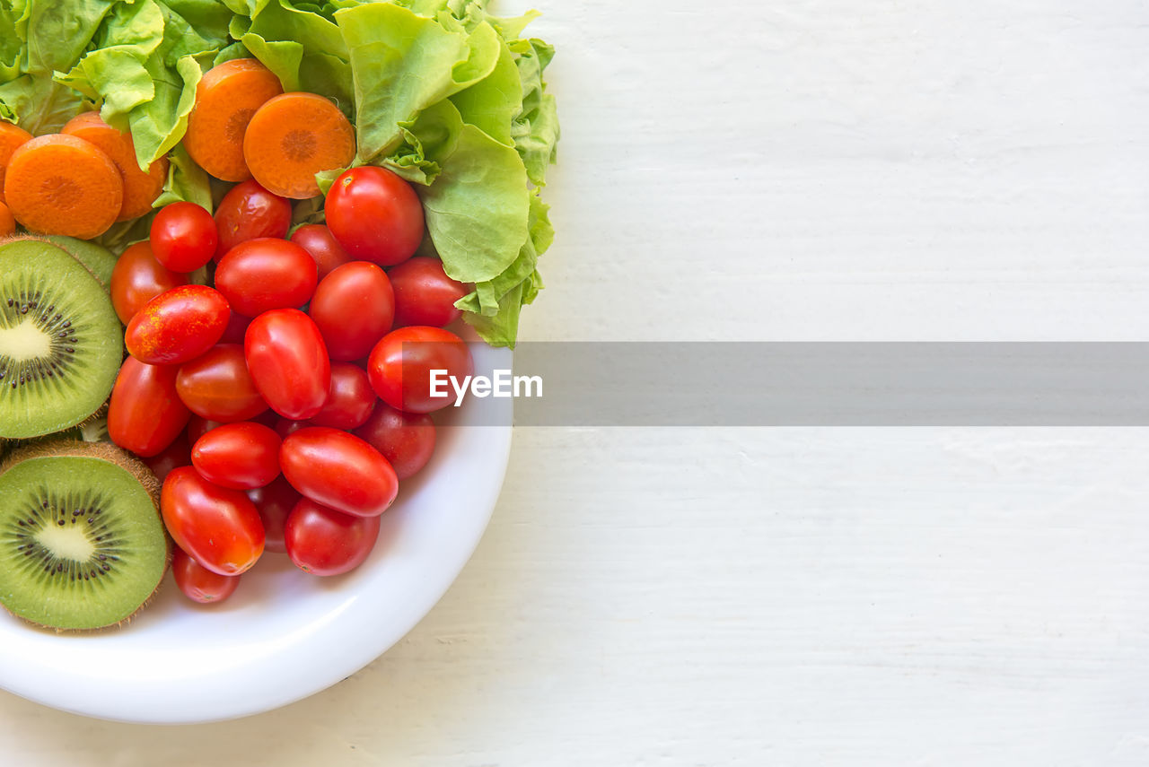 DIRECTLY ABOVE SHOT OF TOMATOES IN BOWL