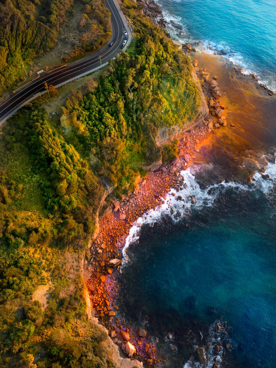 water, beauty in nature, scenics - nature, nature, sea, no people, high angle view, land, aerial view, tranquil scene, day, travel, outdoors, plant, environment, tranquility, tree, transportation, non-urban scene, power in nature