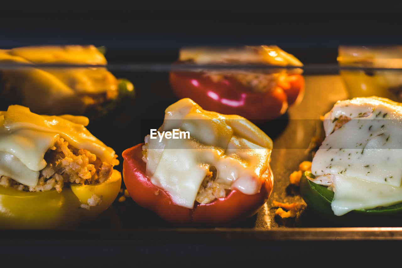 food and drink, food, freshness, ready-to-eat, close-up, indoors, healthy eating, no people, wellbeing, still life, vegetable, bread, dairy product, meat, selective focus, focus on foreground, serving size, cheese, meal, indulgence, temptation, snack