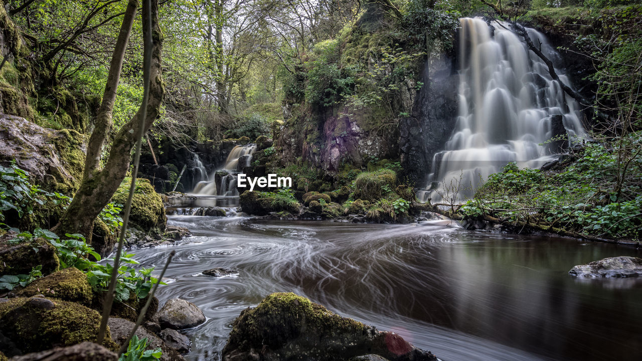 water, tree, long exposure, motion, plant, forest, waterfall, scenics - nature, beauty in nature, blurred motion, flowing water, land, nature, rock, solid, flowing, day, rock - object, no people, power in nature, rainforest, outdoors, falling water, stream - flowing water