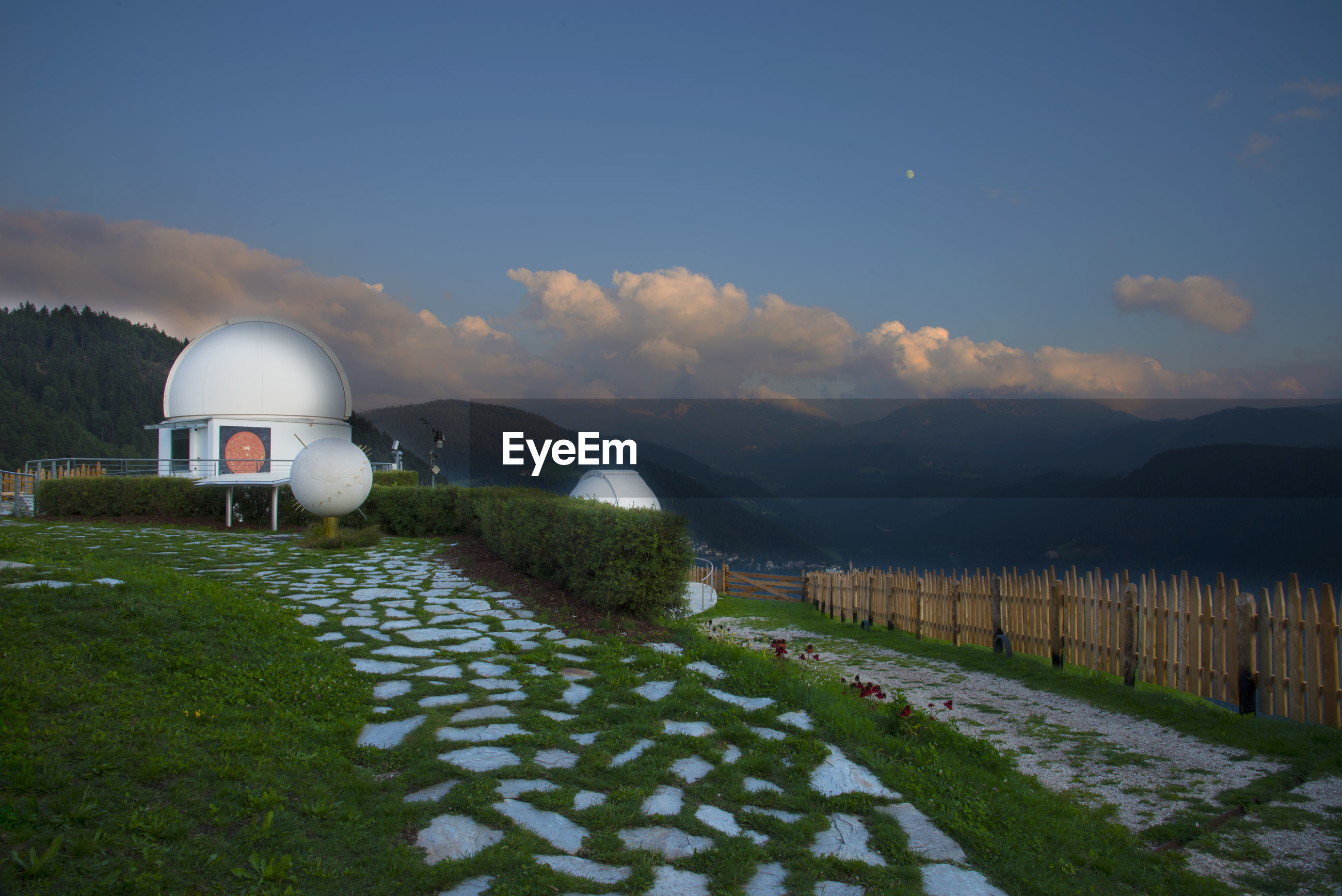 A beautiful astronomical observatory in the dolomites.