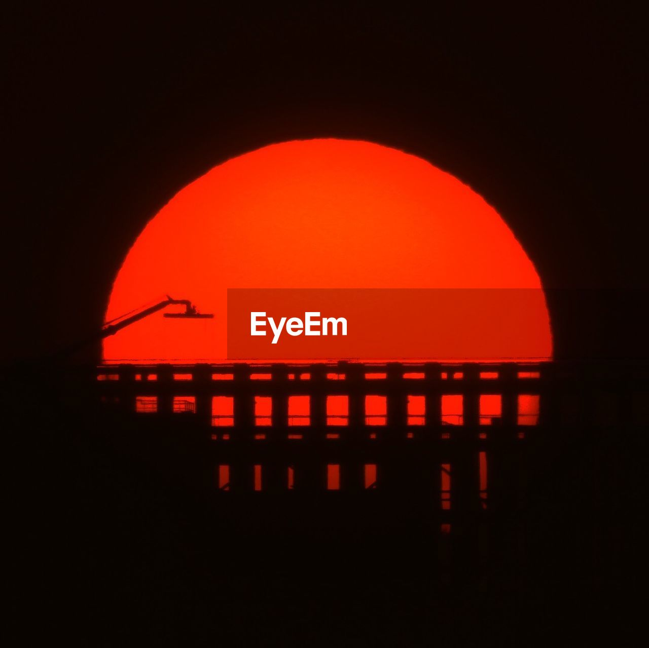 red, silhouette, sky, no people, orange color, nature, night, geometric shape, circle, outdoors, dark, shape, illuminated, architecture, heat - temperature, built structure, sunset, arch