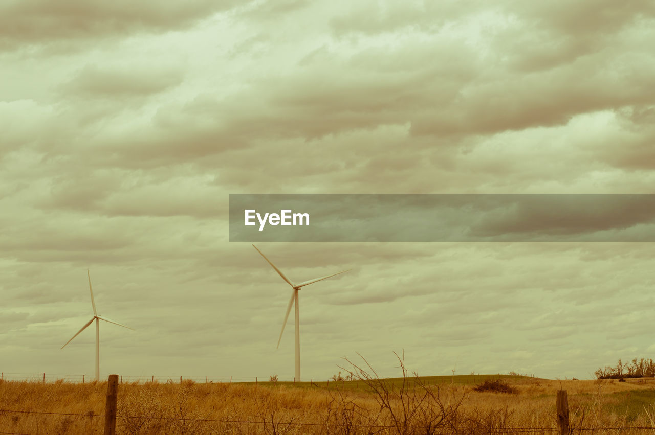 wind power, wind turbine, alternative energy, environmental conservation, windmill, renewable energy, fuel and power generation, industrial windmill, sky, rural scene, cloud - sky, no people, field, day, outdoors, nature, landscape, traditional windmill, beauty in nature