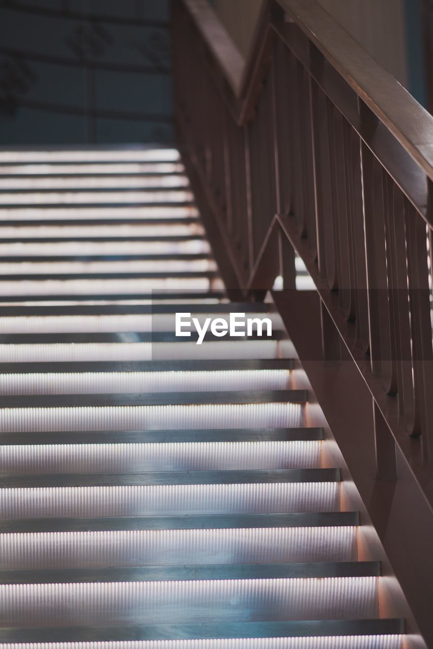 pattern, no people, indoors, staircase, metal, architecture, steps and staircases, railing, close-up, built structure, focus on foreground, selective focus, musical instrument, repetition, high angle view, day, full frame, backgrounds, blinds, piano key