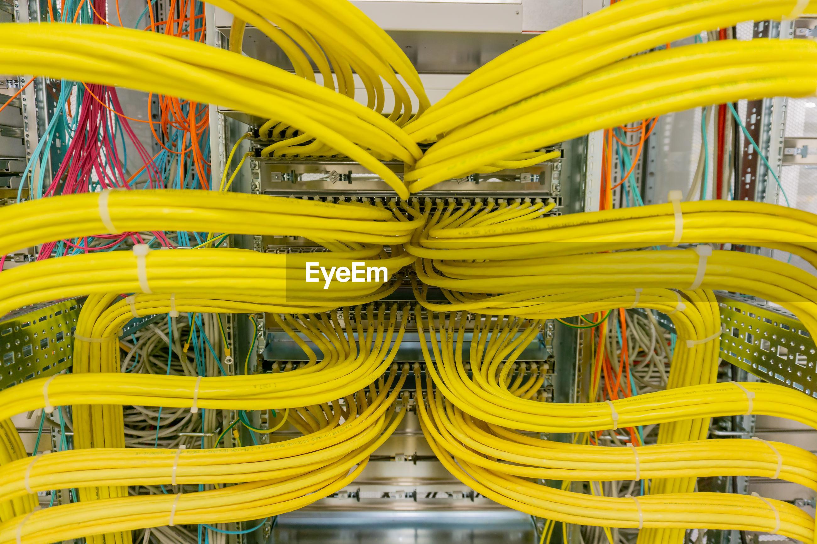 Full frame shot of network servers