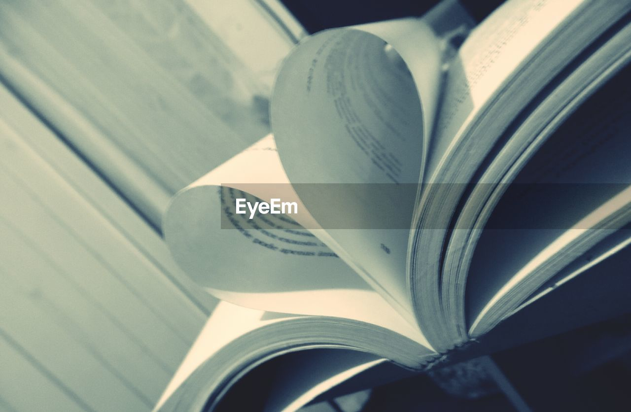 book, page, education, close-up, no people, indoors, paper, literature, day