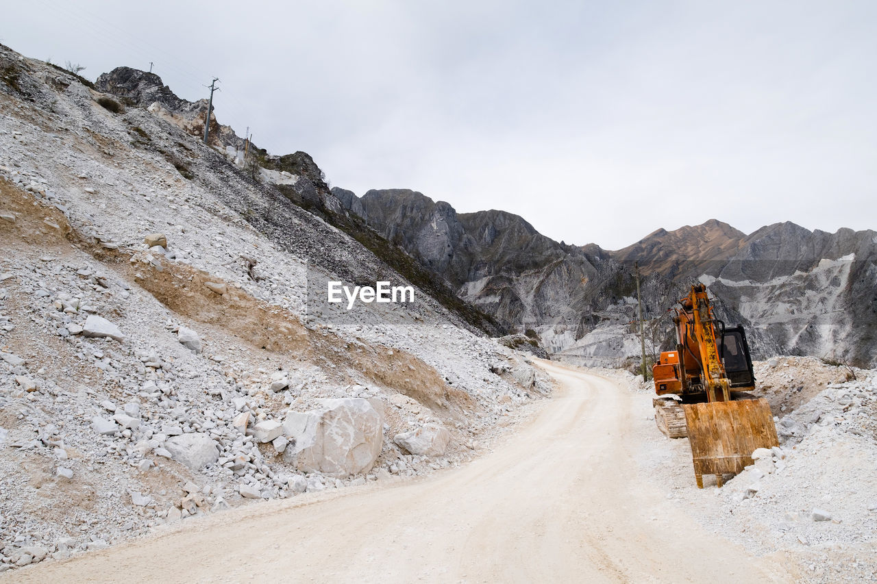 Earth mover at quarry