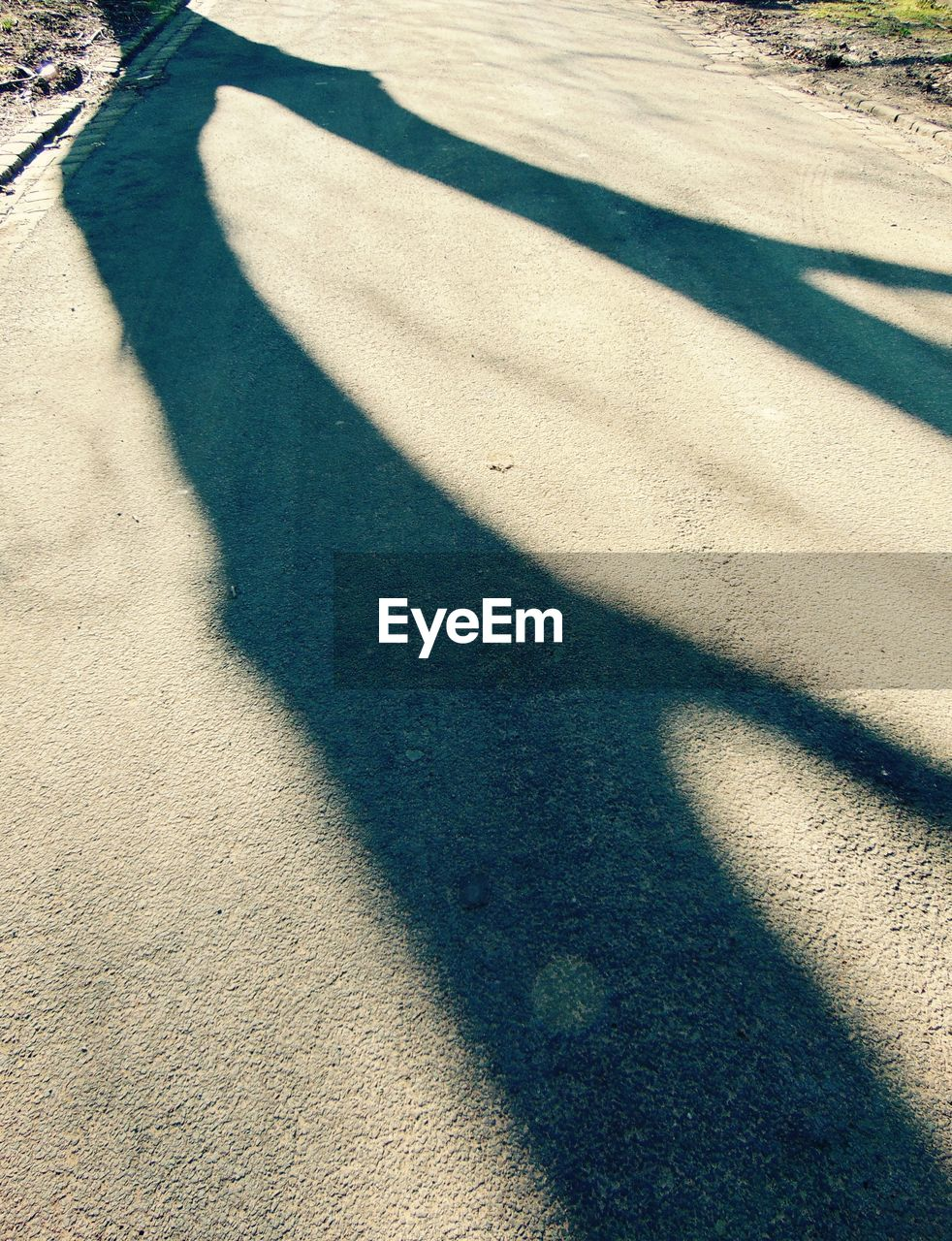 shadow, sunlight, focus on shadow, day, high angle view, outdoors, nature, no people, cold temperature