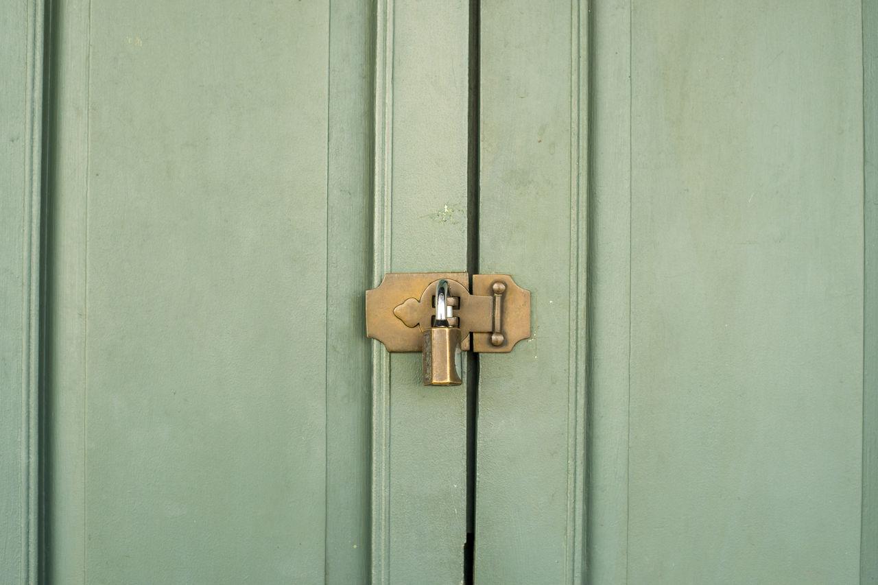 Close-Up Of Locked Door