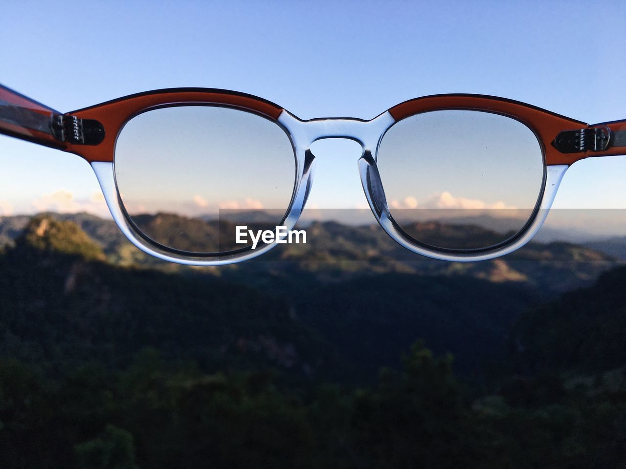 glasses, sunglasses, focus on foreground, close-up, eyeglasses, transparent, personal accessory, fashion, nature, glass - material, sky, land, day, security, no people, protection, vision, reflection, outdoors, still life, eyewear