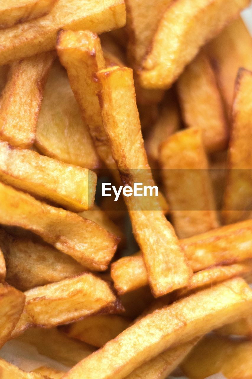 Full frame shot of french fries