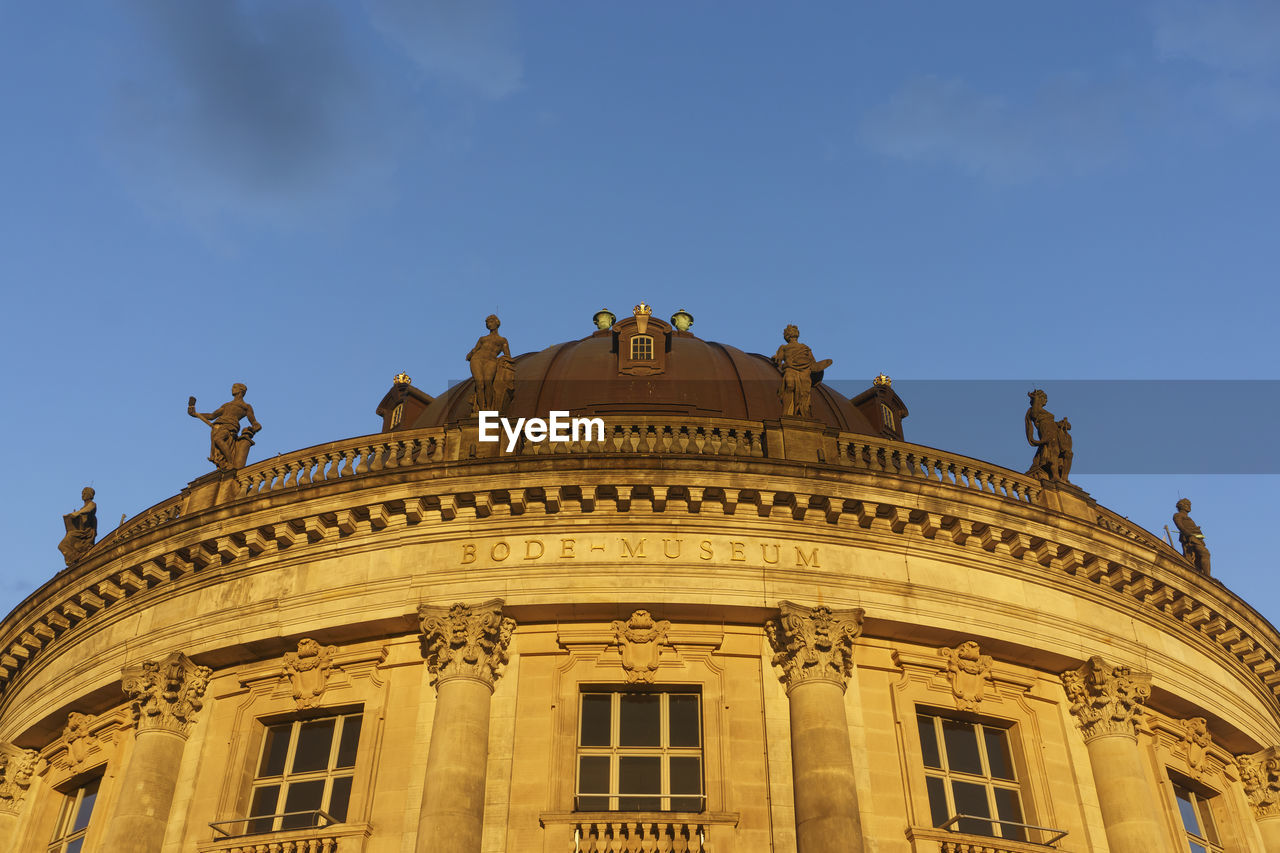 Low Angle View Of Bode-Museum Against Sky