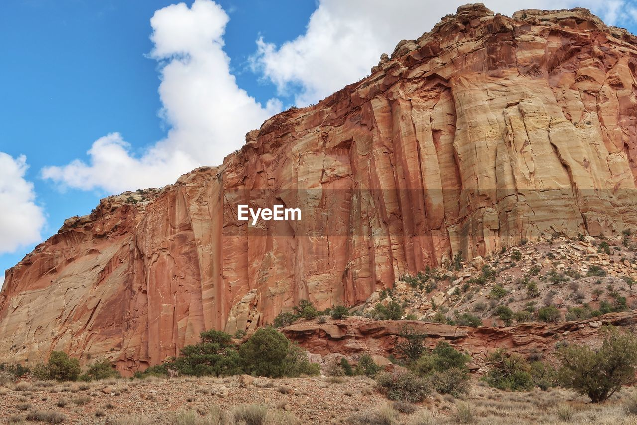 rock, rock formation, rock - object, physical geography, sky, cloud - sky, geology, tranquil scene, solid, scenics - nature, non-urban scene, nature, mountain, travel, beauty in nature, tranquility, travel destinations, no people, environment, low angle view, eroded, formation, arid climate, climate, outdoors