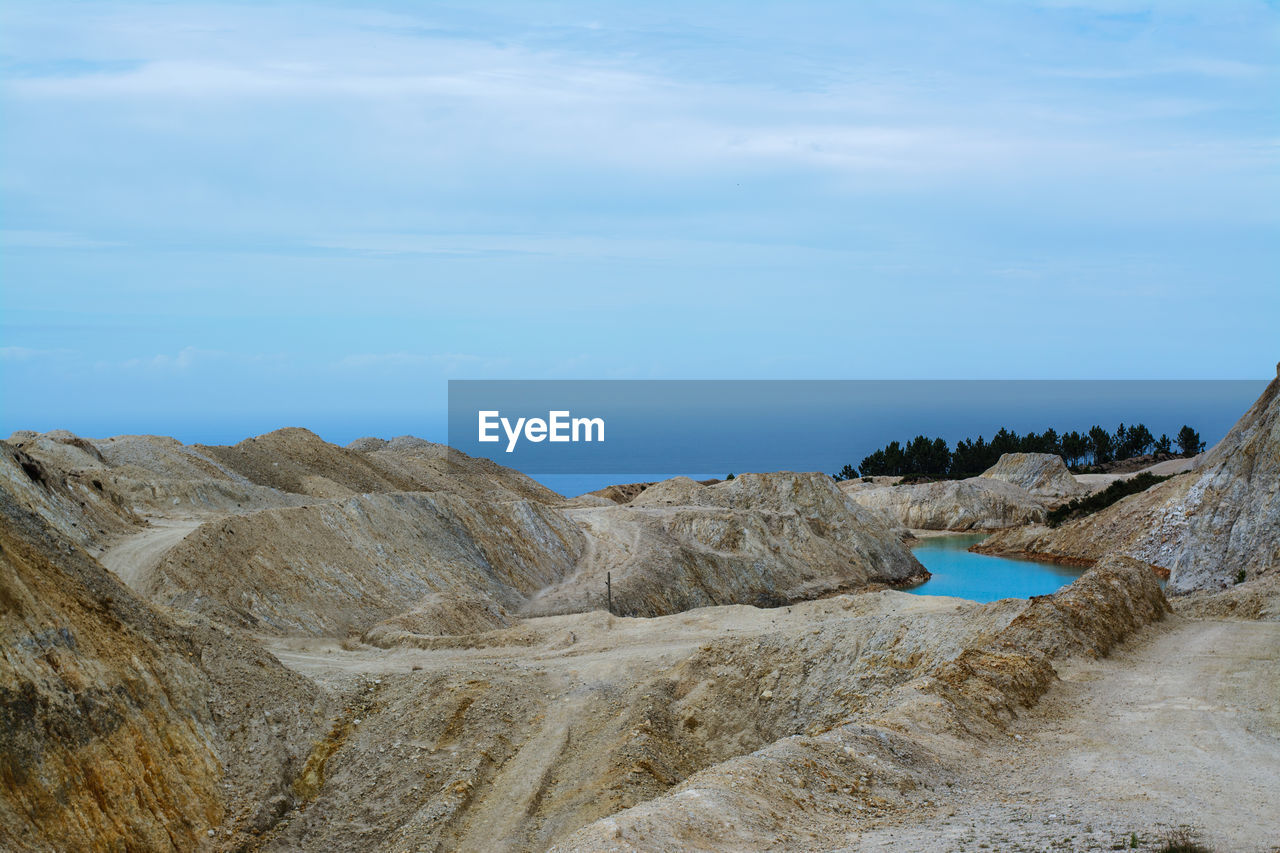 PANORAMIC VIEW OF SEA AND LANDSCAPE AGAINST SKY