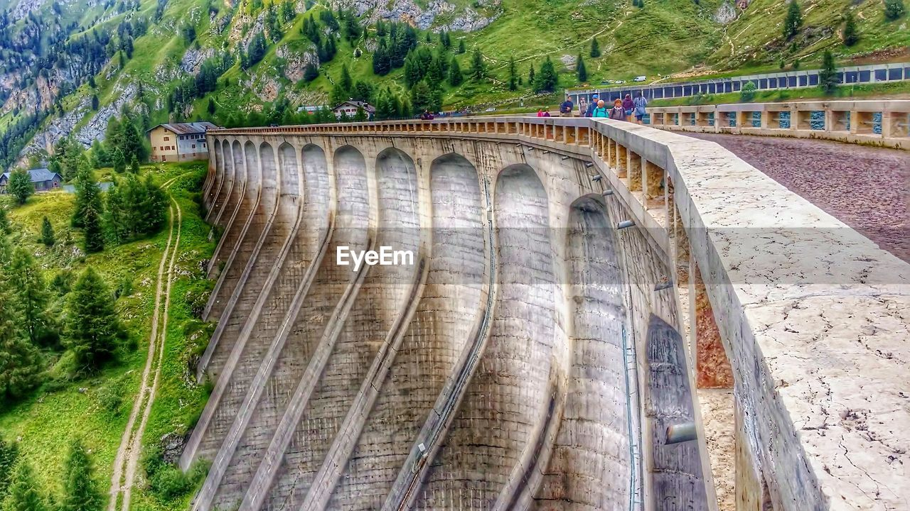dam, hydroelectric power, built structure, bridge - man made structure, architecture, tree, connection, day, no people, industry, outdoors, water, nature