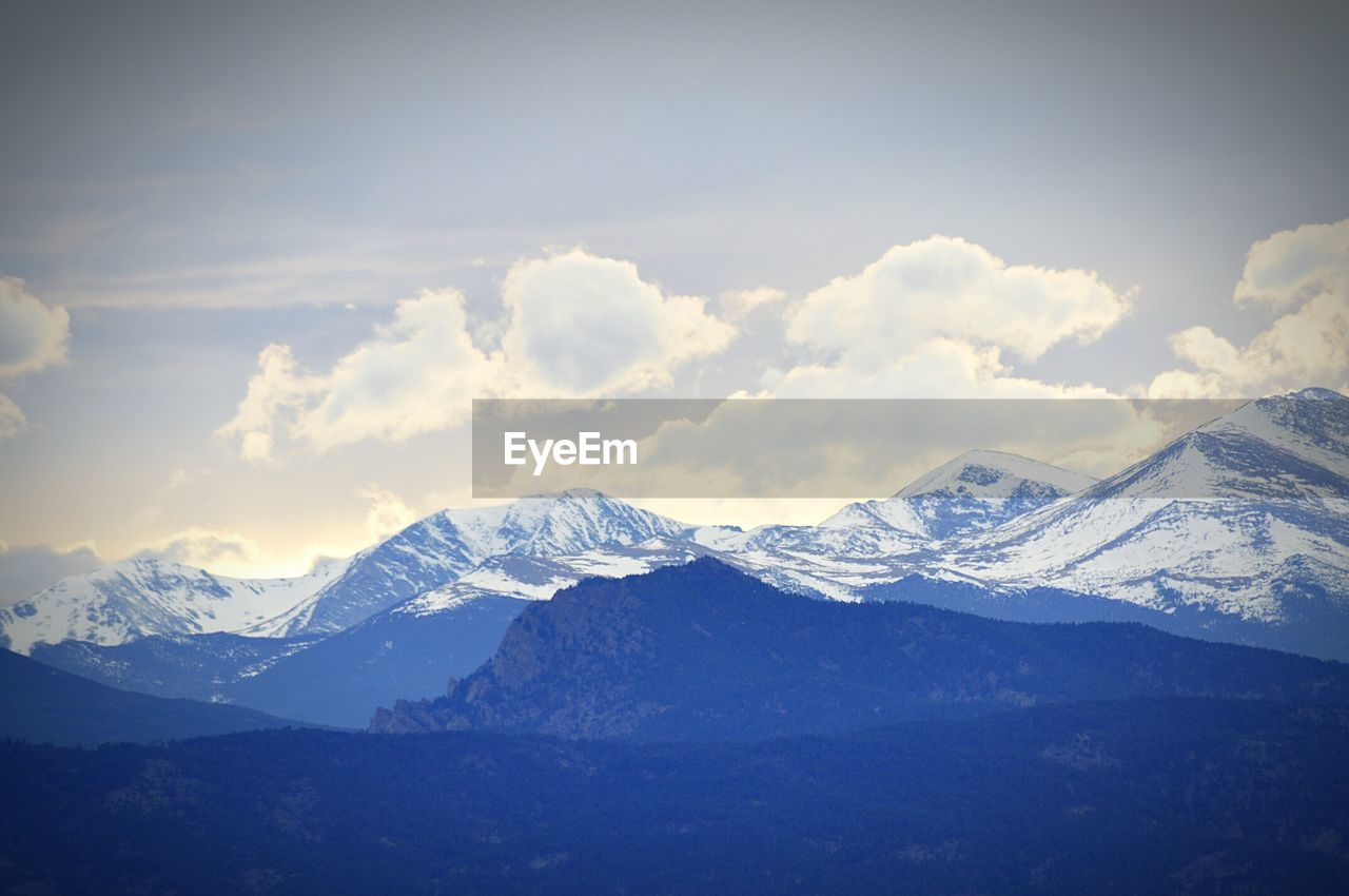 snow, mountain, winter, cold temperature, beauty in nature, nature, scenics, weather, tranquility, snowcapped mountain, mountain range, tranquil scene, no people, sky, landscape, day, outdoors, cloud - sky