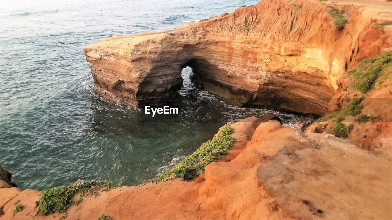rock, water, rock - object, sea, rock formation, solid, beauty in nature, scenics - nature, no people, motion, nature, day, tranquility, land, tranquil scene, physical geography, cliff, non-urban scene, idyllic, outdoors, eroded, power in nature