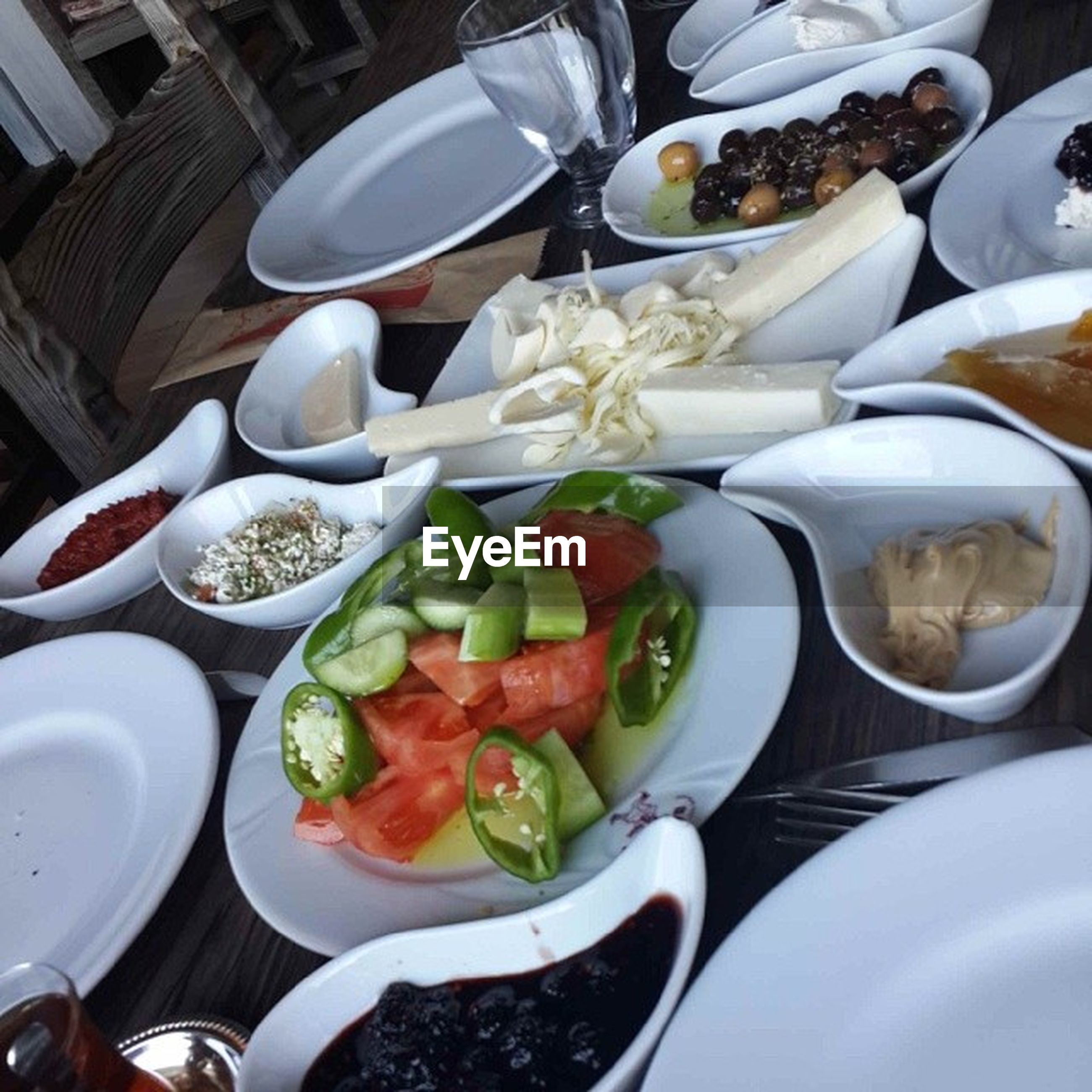 food and drink, food, indoors, freshness, healthy eating, bowl, plate, table, still life, high angle view, ready-to-eat, variation, meal, salad, vegetable, spoon, serving size, abundance, no people, directly above
