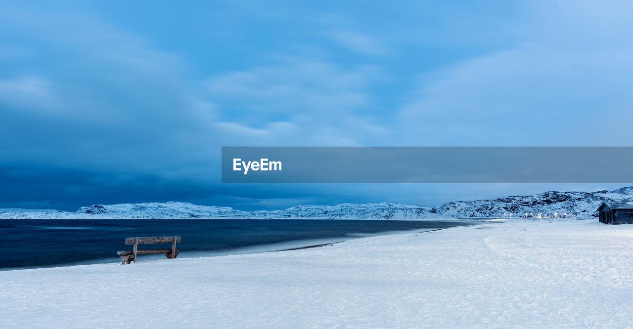 winter, cold temperature, snow, cloud - sky, sky, beauty in nature, nature, white color, day, scenics - nature, land, tranquility, tranquil scene, environment, non-urban scene, covering, outdoors, field, frozen, snowcapped mountain