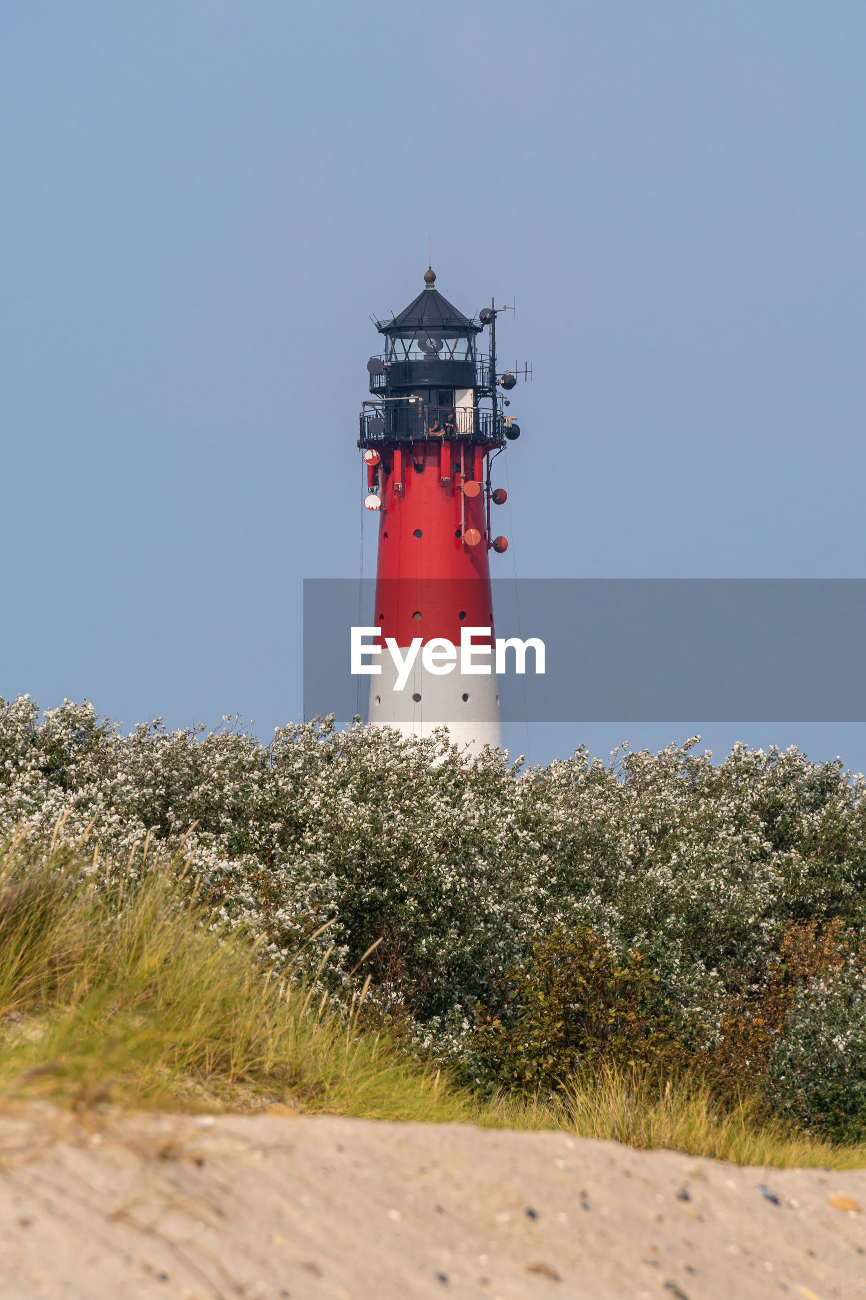 Lighthouse on the island sylt in hoernum