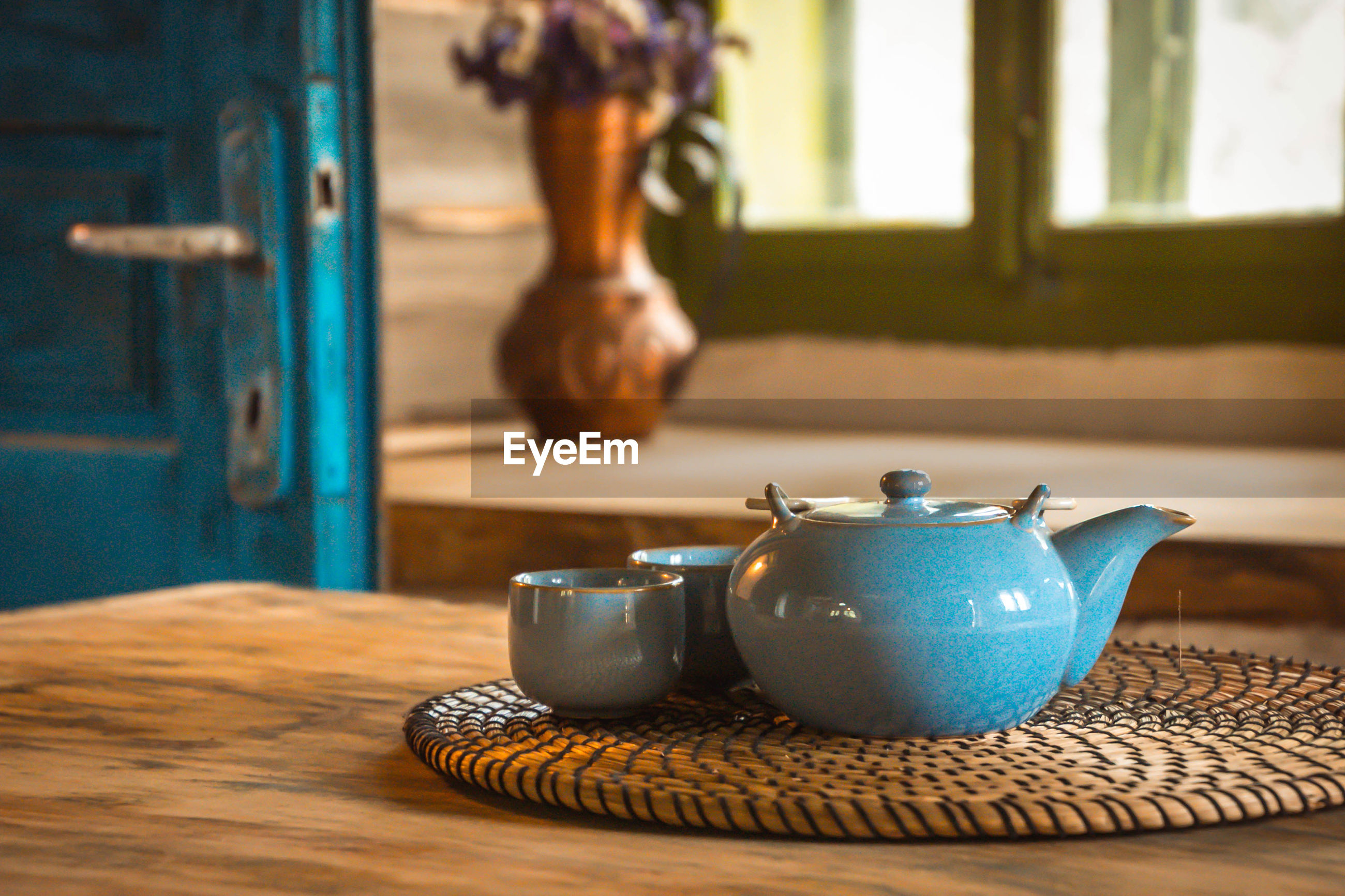 Bleu tea decoration