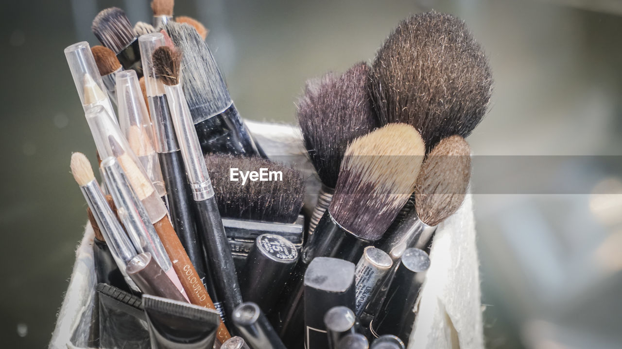 Close-Up View Of Brushes