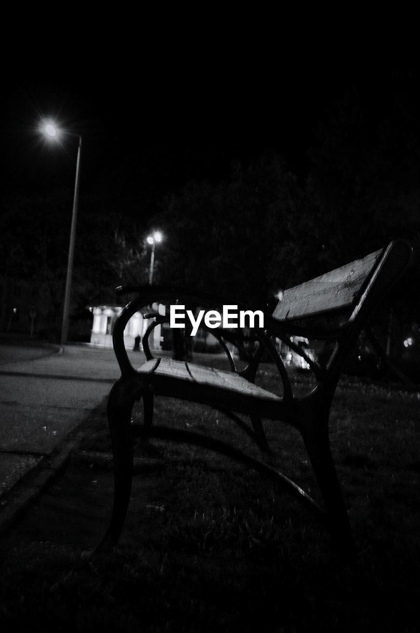 night, illuminated, transportation, mode of transport, no people, outdoors, street light, grass, nature, sky